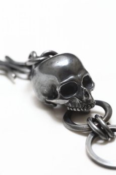 画像2: Thee OLD CIRCUS '' Old Number '' / 713 / BLACK FLOWER / Big Skull Key Holder (2)