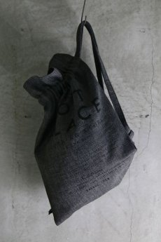 "画像1: F-405-GE MY MIND / W-FACE COTTON "" ONE FAMILY ""JIM BAG (1)"