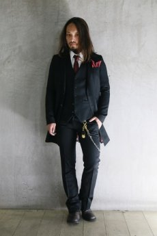 画像5: Black Bird Tailor / BN-4101 / LETTEL LEAF / SOLID TIE & CHIEF (5)