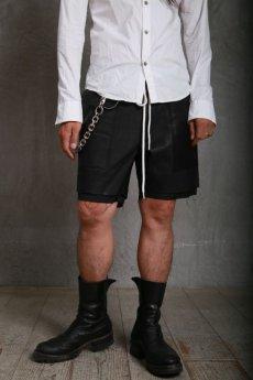 画像5: JUVENILE HALL ROLLCALL / ジュヴェナイルホールロールコール / 1222 / LAYERD LEATHER SHORT PANTS (5)