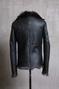 画像3: incarnation / インカネーション /  31791-4690 SHEEP SHEARLING HIGH NECK ZIP BLOUSON SPIRAL ARM (3)