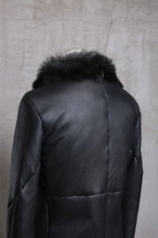 画像9: incarnation / インカネーション /  31791-4690 SHEEP SHEARLING HIGH NECK ZIP BLOUSON SPIRAL ARM (9)