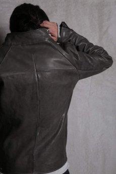 画像6: LINEA_F by incarnation インカネーション /  MMXVIII-41277 Raglan darts shoulder zip front blouson lined (6)