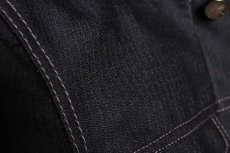 画像13: Linea_f by incarnation / インカネーション リネアエフ / MMXIX-V-41250W BLACK WOOL JEAN JACKET  (13)