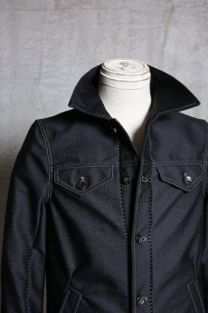 画像5: Linea_f by incarnation / インカネーション リネアエフ / MMXIX-V-41250W BLACK WOOL JEAN JACKET  (5)
