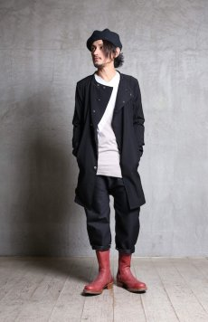 画像13: Linea_f by incarnation / インカネーション リネアエフ /MMXIX-V--5300 BAND COLLAR LONG SHIRTS COAT (13)