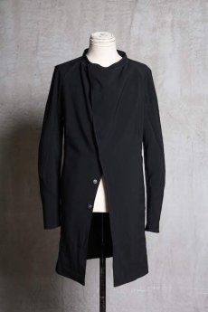 画像1: Linea_f by incarnation / インカネーション リネアエフ /MMXIX-V--5300 BAND COLLAR LONG SHIRTS COAT (1)