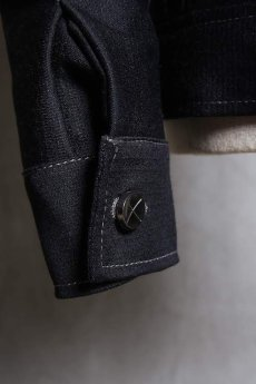 画像12: Linea_f by incarnation / インカネーション リネアエフ / MMXIX-V-41250W BLACK WOOL JEAN JACKET  (12)