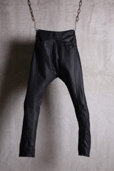 画像2: incarnation / インカネーション / 31981-6452 COTTON  ELASTANE DENIM LONG DARTS SARROUEL PANTS (2)