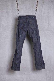 画像2: JUVENILE HALL ROLLCALL / ジュヴェナイルホールロールコール / 1324 / BONTAGE BOOTS CUT DENIM PANTS (2)