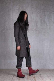 画像15: incarnation / インカネーション /  31976-5310  WOOL TWILL BIAS FRY FRONT W/POCKET COAT LINED (15)