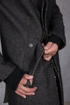 画像8: incarnation / インカネーション /  31976-5310  WOOL TWILL BIAS FRY FRONT W/POCKET COAT LINED (8)