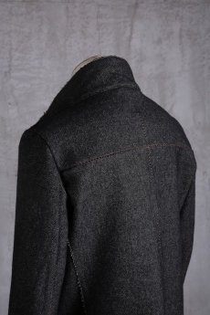 画像12: incarnation / インカネーション /  31976-5310  WOOL TWILL BIAS FRY FRONT W/POCKET COAT LINED (12)