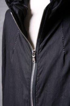 画像14: Wir Lineal / リネアル / WL-1103-311 / Inorganic structure dolman sleeve zip hoodie (14)
