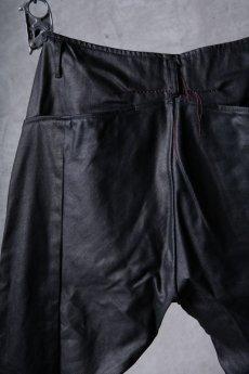 画像15: incarnation / インカネーション / 31981-6452 / COTTON ELASTANE DENIM LONG DARTS SARROUEL PANTS (15)