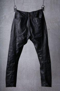 画像2: incarnation / インカネーション / 31981-6452 / COTTON ELASTANE DENIM LONG DARTS SARROUEL PANTS (2)