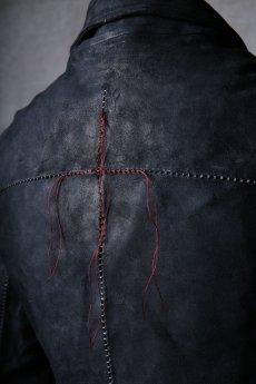 画像19: incarnation / インカネーション / 12111-41077 / BACK SKIN HORSE LEATHER DOUBLE BREAST MOTO W/POCKET LINED (19)