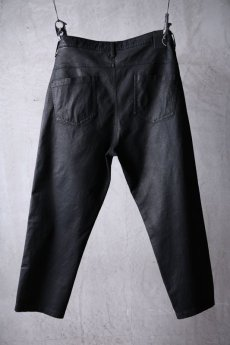 画像2: NostraSantissima / ノストラ サンティッシマ / P04 / Overfit stretch coated pants (2)