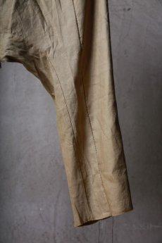 画像16: Wir Lineal / リネアル / WL-1104-311 / Inorganic structure sarrouel relax pants (16)