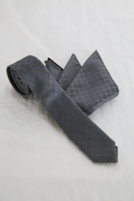 画像1: Black Bird Tailor / BN-4102 / PINION / GEOMETRIC TIE & CHIEF (1)
