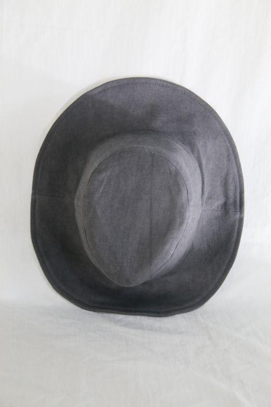 """画像1: 822 """" Black Sand Moon """" / コットンリネンワイドブリムハット (1)"""