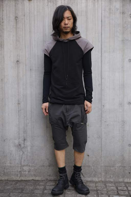 画像1: incarnation / インカネーション /  31885-3370  CUT&SAWN HOODED RAGLAN FRENCH SLEEVE  (1)
