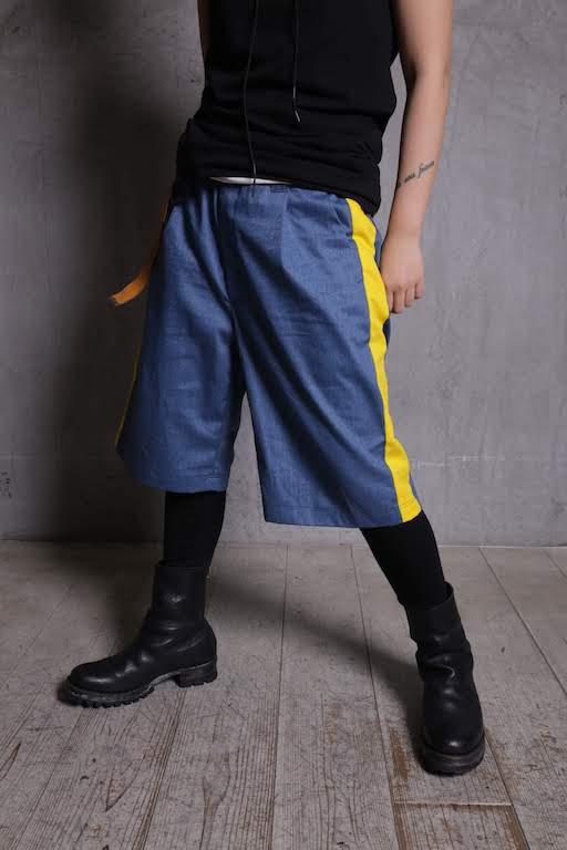 画像1: JUVENILE HALL ROLLCALL / ジュヴェナイルホールロールコール / 1263 / BONTAGE SIDE LINE WIDE HALF PANTS  (1)