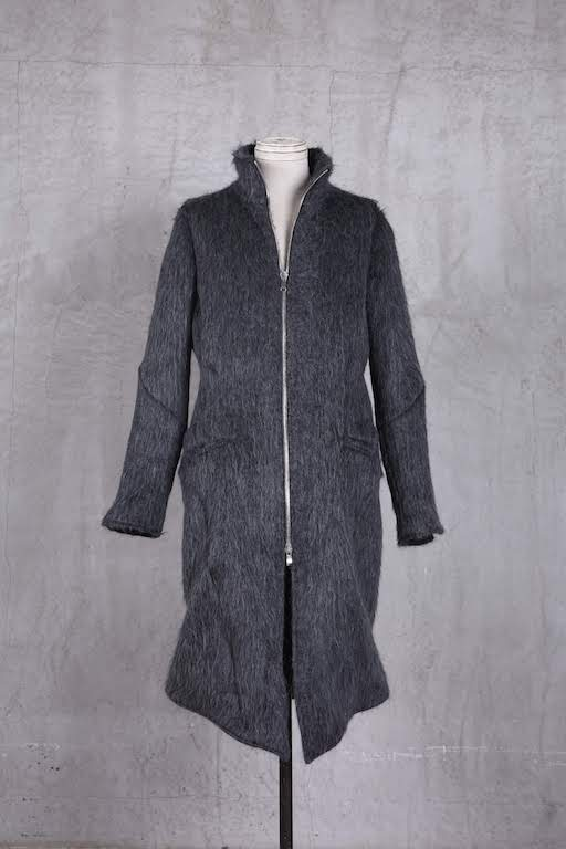 画像1: incarnation / インカネーション /  31973-5120 ALPACA×WOOL STAND-NECK W/POCKET COAT LINED  (1)
