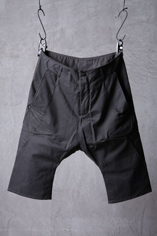 画像1: incarnation / インカネーション / 11883-6410C / COTTON 98% ELASTANE 2% PANTS SARROUEL CARGO SHORT (1)
