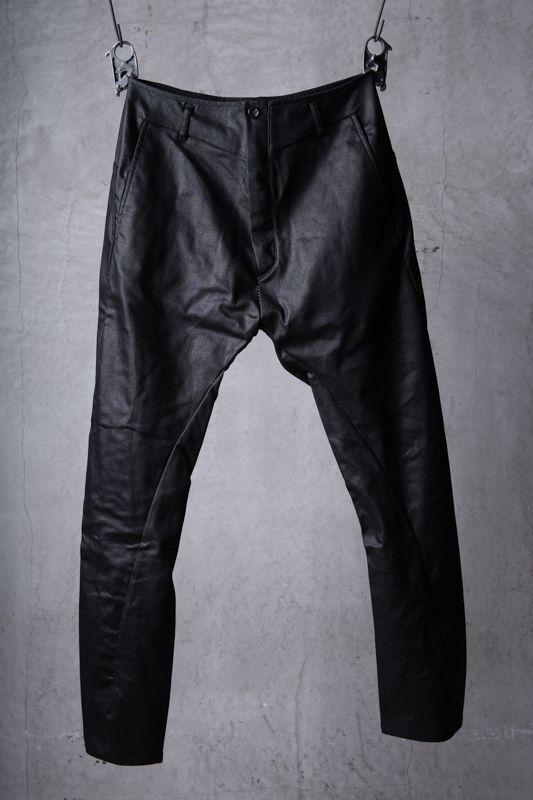画像1: incarnation / インカネーション / 31981-6452 / COTTON ELASTANE DENIM LONG DARTS SARROUEL PANTS (1)