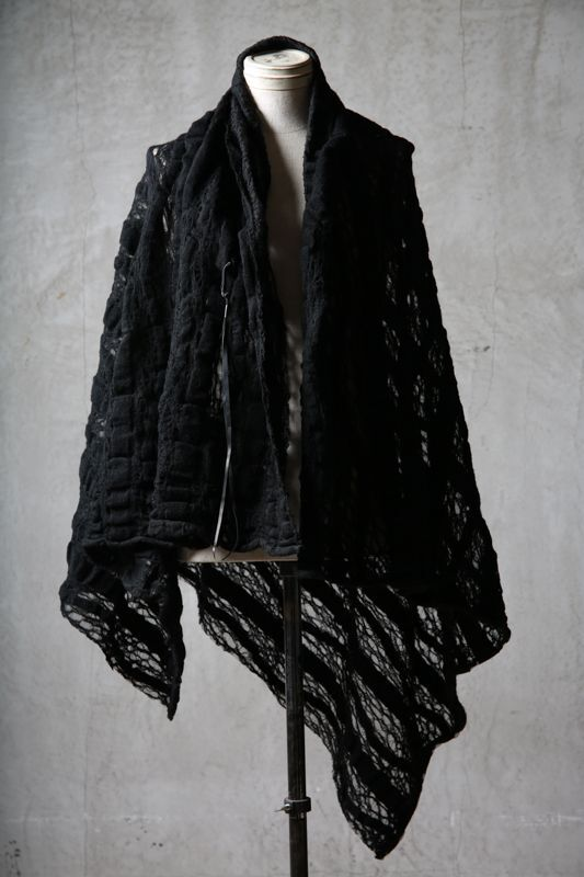 画像1: Thee OLD CIRCUS '' 1973 '' / 0401 / Cover up star / Italian fabric Wool blend knit cape (1)