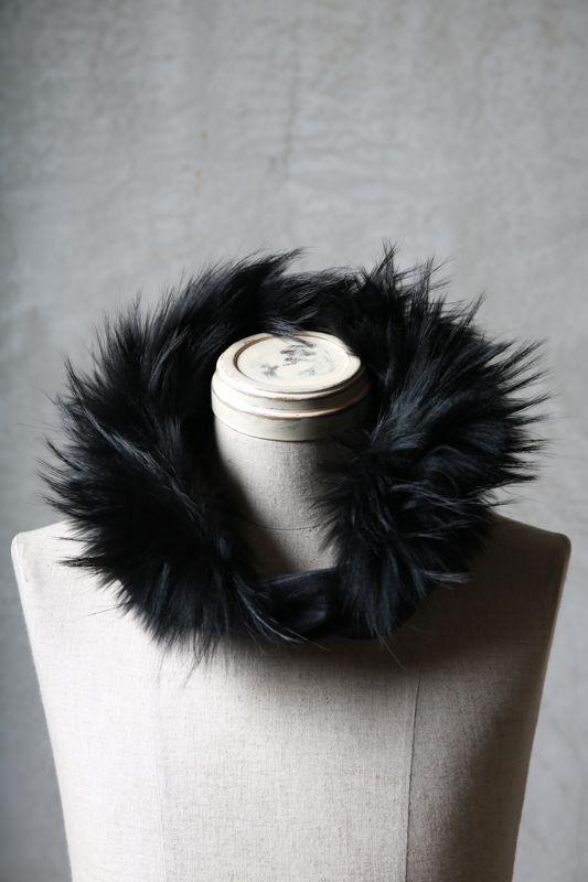 画像1: Thee OLD CIRCUS '' 1973 '' / 0403 / Bleach out / Neck warmer with fur (1)